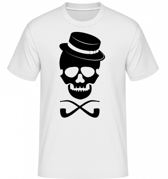 Skull With Hat -  Shirtinator Men's T-Shirt - White - Vorn