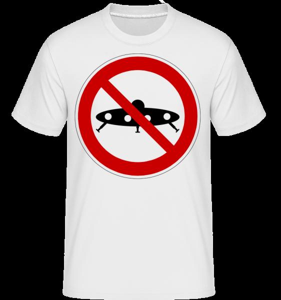 Ufos Verboten - Shirtinator Männer T-Shirt - Weiß - Vorn