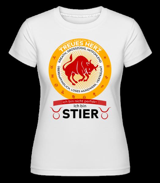 Sternzeichen stier - Shirtinator Frauen T-Shirt - Weiß - Vorn