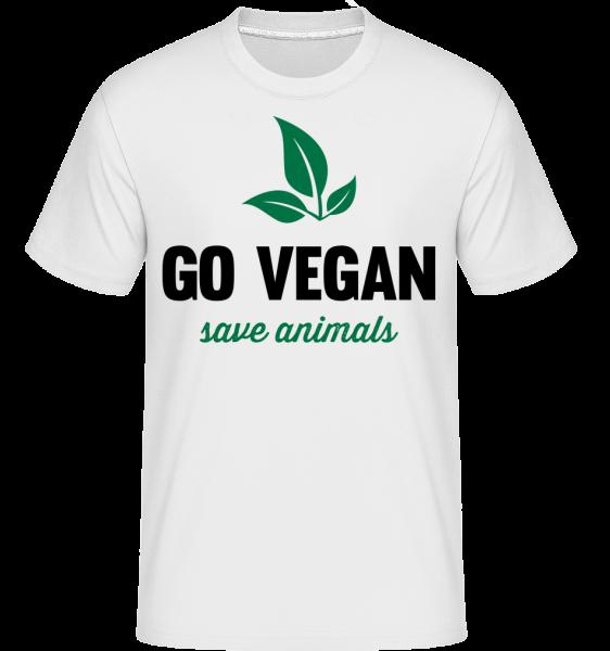 Go Vegan Save Animals - Shirtinator Männer T-Shirt - Weiß - Vorn
