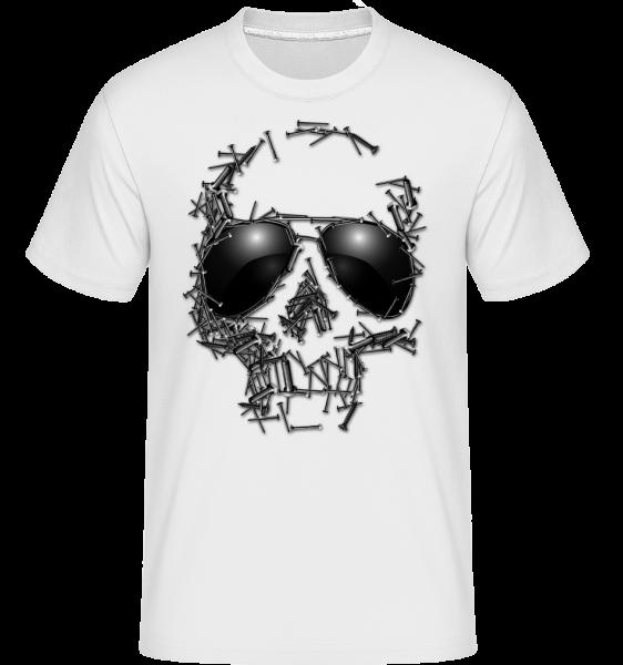 Sonnenbrille Totenkopf - Shirtinator Männer T-Shirt - Weiß - Vorn