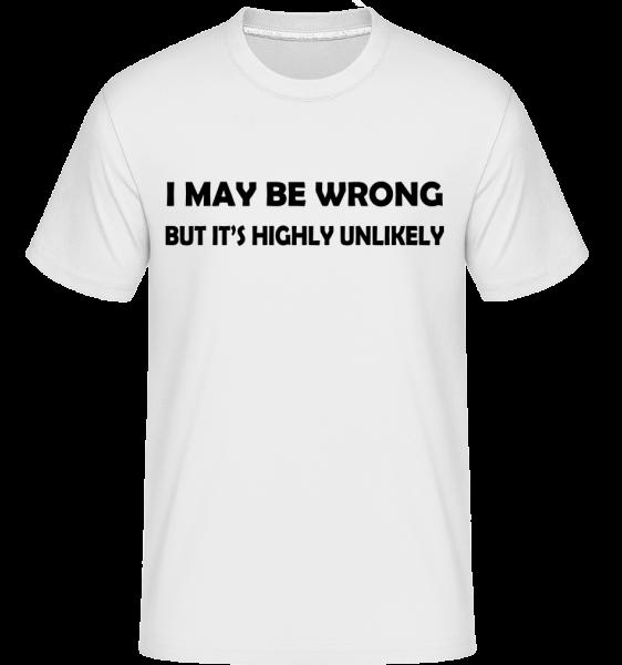 I'm Always Right -  Shirtinator Men's T-Shirt - White - Vorn