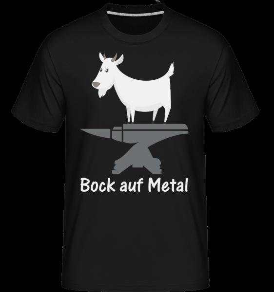 Bock Auf Metal - Shirtinator Männer T-Shirt - Schwarz - Vorn