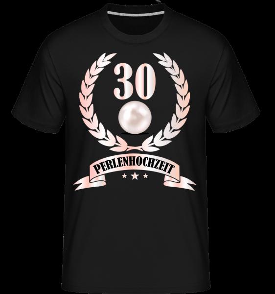 30 Jahre Perlenhochzeit - Shirtinator Männer T-Shirt - Schwarz - Vorn