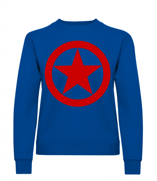 Star In Circle Logo - Classic Ladies' Set-In Sweatshirt - Royal Blue - Vorn