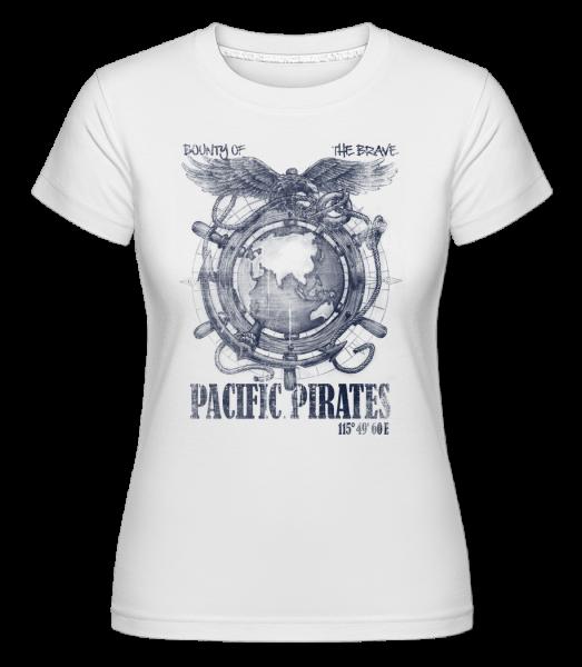 Pacific Pirates - Shirtinator Women's T-Shirt - White - Front