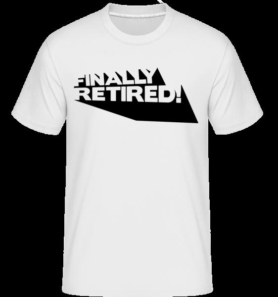 Finally Retired! - Shirtinator Männer T-Shirt - Weiß - Vorn
