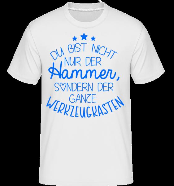 Du Bist Der Werkzeugkasten - Shirtinator Männer T-Shirt - Weiß - Vorn