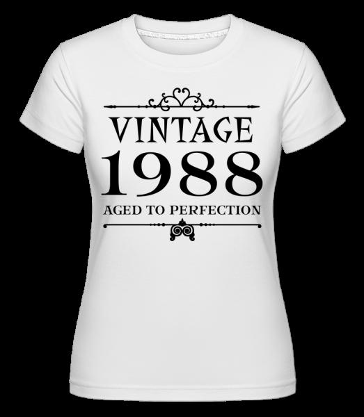 Vintage 1988 Perfection - Shirtinator Women's T-Shirt - White - Vorn