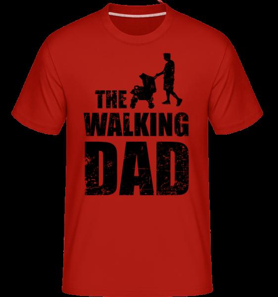 The Walking Dad - Shirtinator Männer T-Shirt - Rot - Vorn