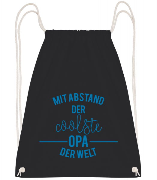 Mit Abstand Der Coolste Opa Der Welt - Turnbeutel - Schwarz - Vorn