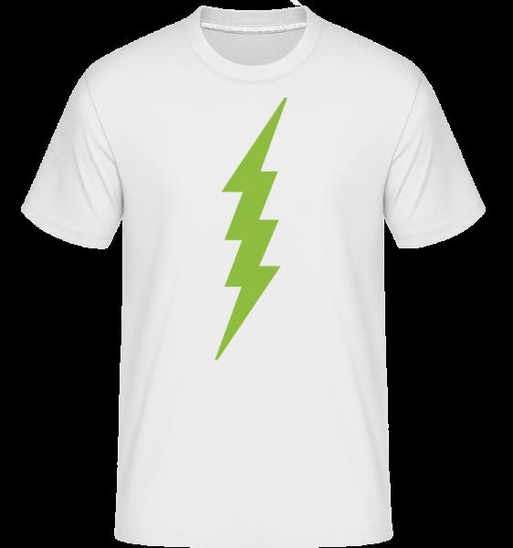 Flash Icon Green - Shirtinator Männer T-Shirt - Weiß - Vorn