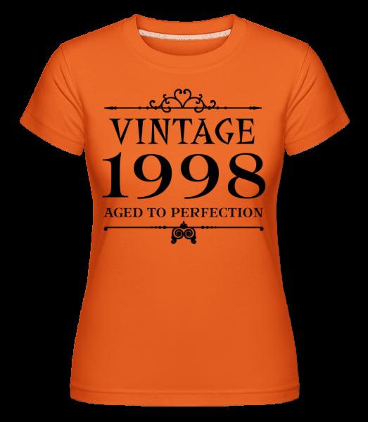 Vintage 1998 Perfection - Shirtinator Frauen T-Shirt - Orange - Vorn