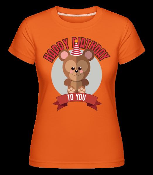 Happy Birthday To You Monkey -  Shirtinator Women's T-Shirt - Orange - Vorn