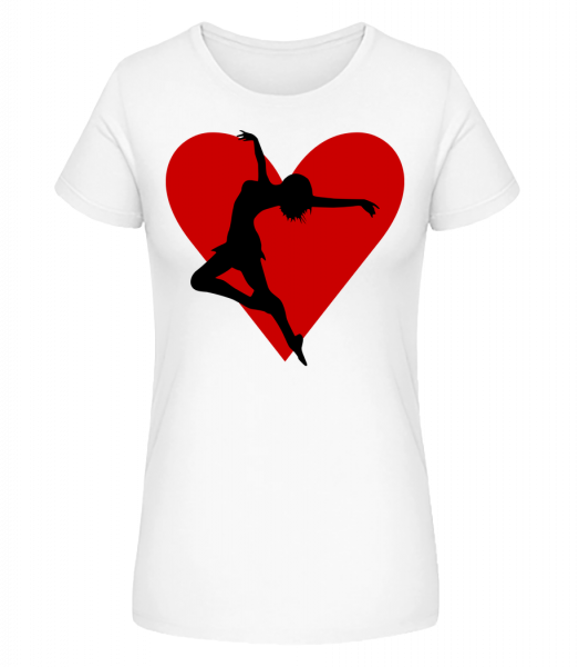 Dancing Heart - Women's Premium Organic T-Shirt Stanley Stella - White - Front