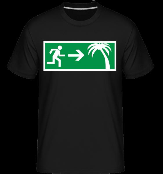 Emergency Exit Urlaub - Shirtinator Männer T-Shirt - Schwarz - Vorn
