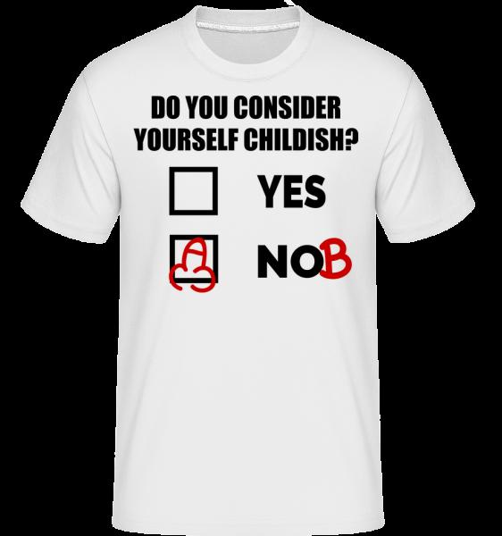 Are You Childish? - Shirtinator Männer T-Shirt - Weiß - Vorn
