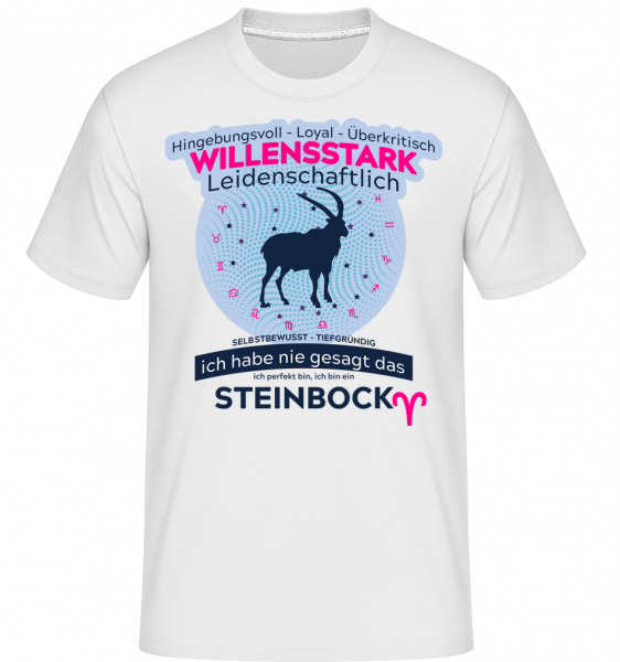Sternzeichen Steinbock - Shirtinator Männer T-Shirt - Weiß - Vorn