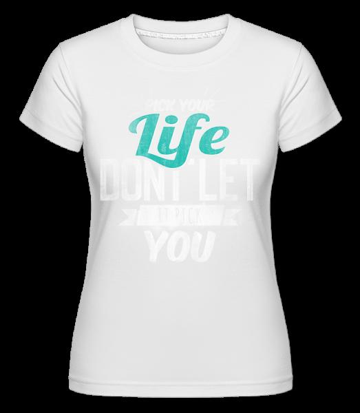 Life - Shirtinator Women's T-Shirt - White - Front