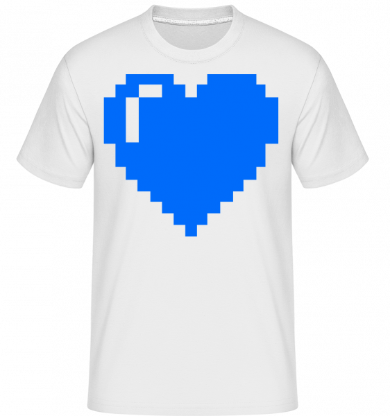 8 Bit Heart -  Shirtinator Men's T-Shirt - White - Vorn