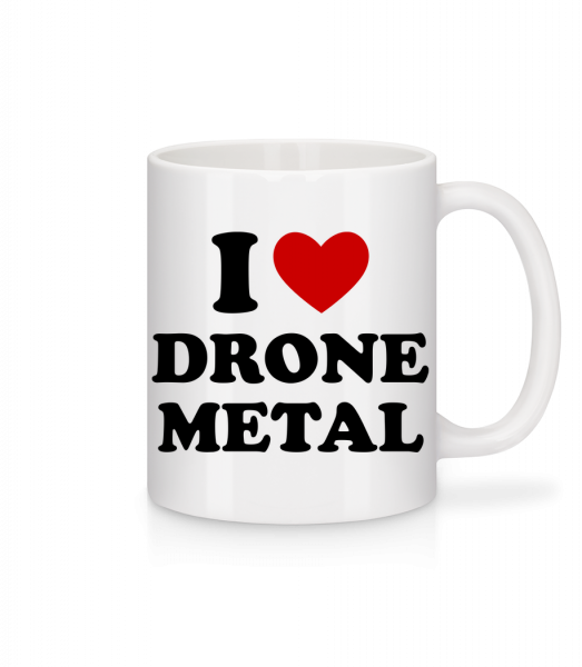 I Love Drone Metal - Mug - White - Front