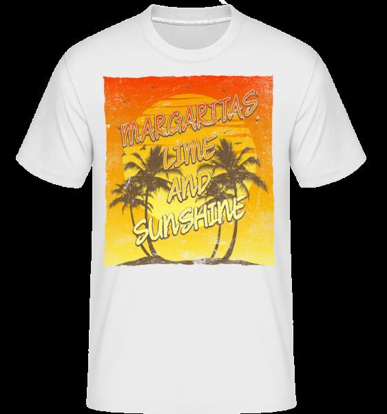 Margaritas And Sunshine - Shirtinator Männer T-Shirt - Weiß - Vorn