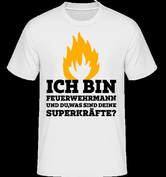 Ich Bin Feuerwehrmann - Shirtinator Männer T-Shirt - Weiß - Vorn