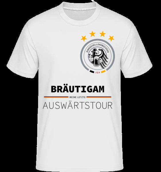 Letzte Auswärtstour Bräutigam - Shirtinator Männer T-Shirt - Weiß - Vorn