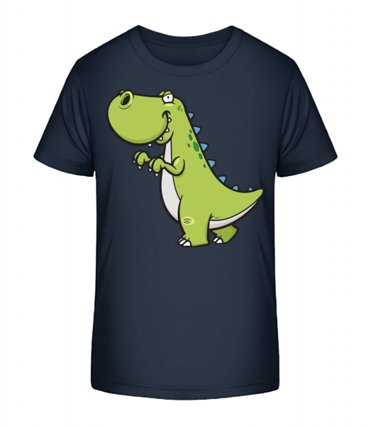 Funny Cartoon Dinosaur - Kid's Premium Bio T-Shirt - Navy - Front