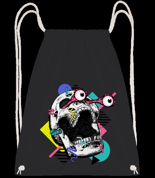 Skull Shocked - Drawstring Backpack - Black - Vorn