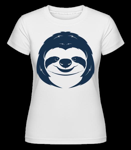 Cute Sloth Face -  Shirtinator Women's T-Shirt - White - Vorn
