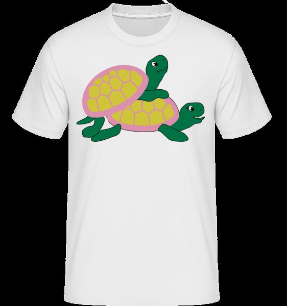 Sexy Turtles -  Shirtinator Men's T-Shirt - White - Front