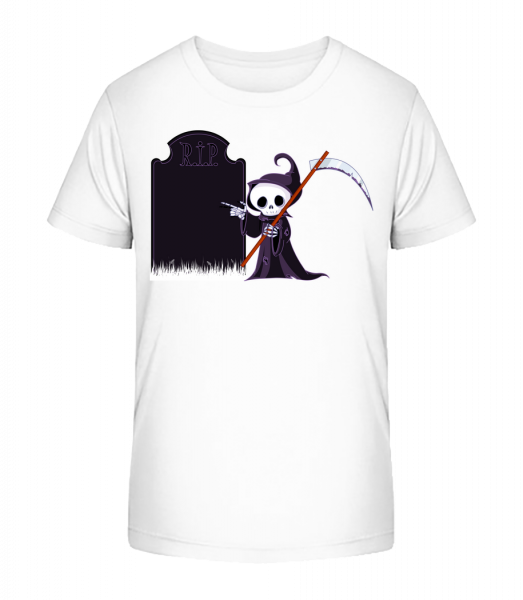 Death Rest In Peace - Kid's Premium Bio T-Shirt - White - Front