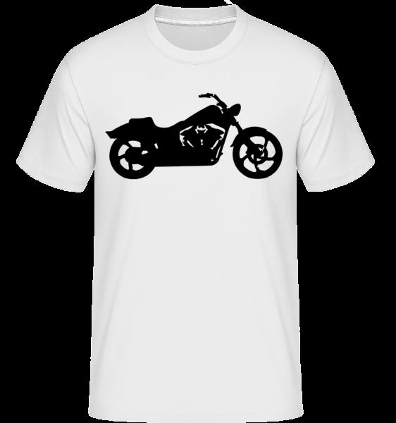 Motorrad Schatten - Shirtinator Männer T-Shirt - Weiß - Vorn