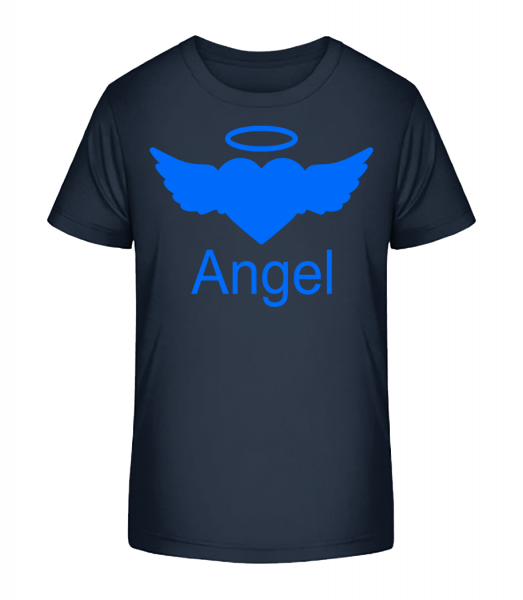 Angel Heart - Kinder Premium Bio T-Shirt - Marine - Vorn