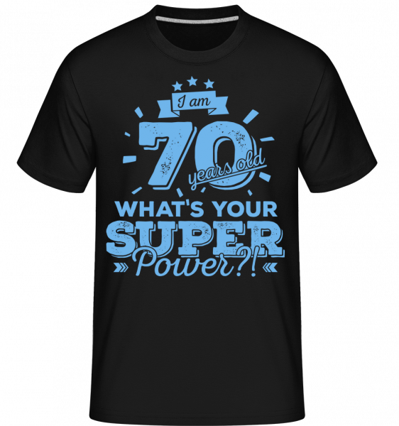 70 Years Super Power -  Shirtinator Men's T-Shirt - Black - Vorn
