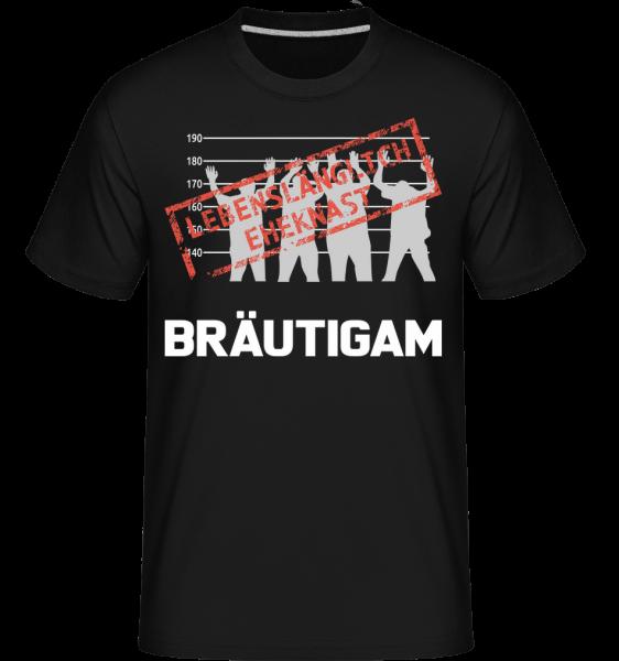 Häftling Bräutigam - Shirtinator Männer T-Shirt - Schwarz - Vorn