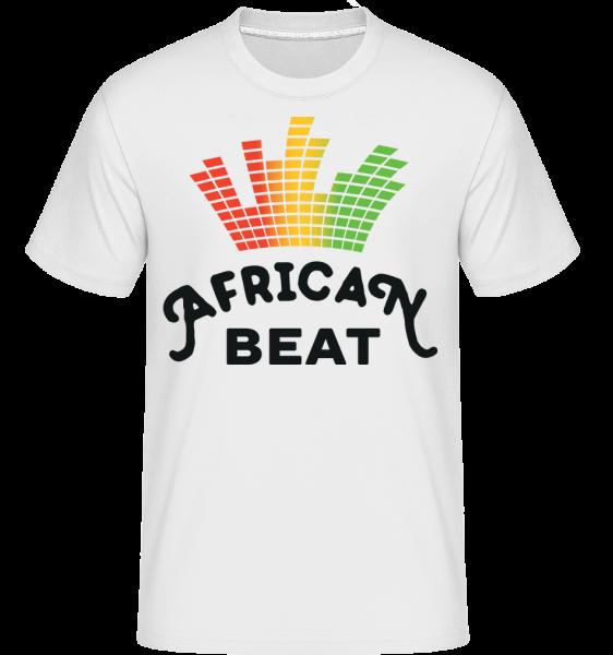 African Beat - Shirtinator Männer T-Shirt - Weiß - Vorn