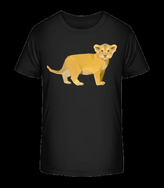 Kleiner Löwe - Kinder Premium Bio T-Shirt - Schwarz - Vorn