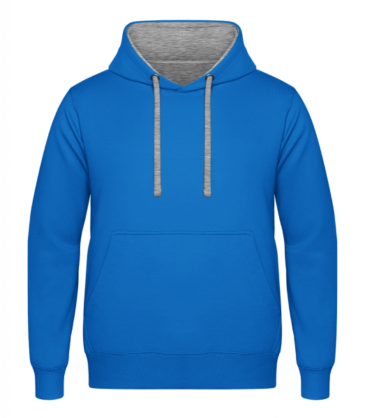 Unisex Two-Toned Hoodie - Light blue - Front