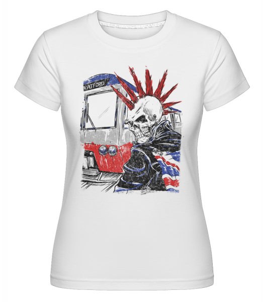 London Skull Punk -  Shirtinator Women's T-Shirt - White - Vorn