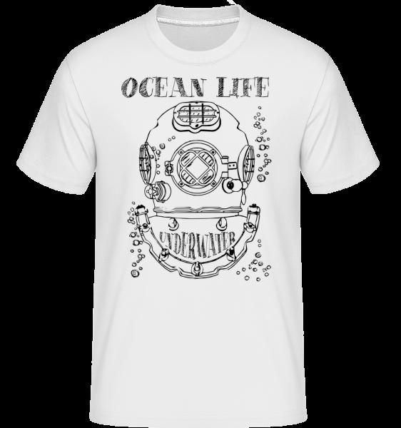 Ocean Life Logo -  Shirtinator Men's T-Shirt - White - Vorn