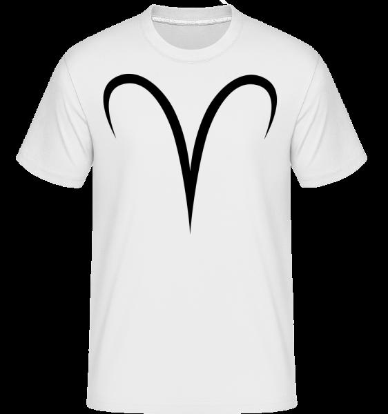 Widder Zeichen - Shirtinator Männer T-Shirt - Weiß - Vorn