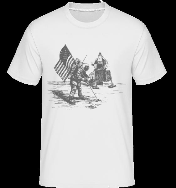 Mondlandung Apollo - Shirtinator Männer T-Shirt - Weiß - Vorn