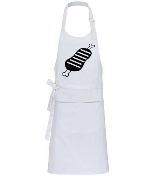 BBQ Sign Simple - Professional Apron - White - Front