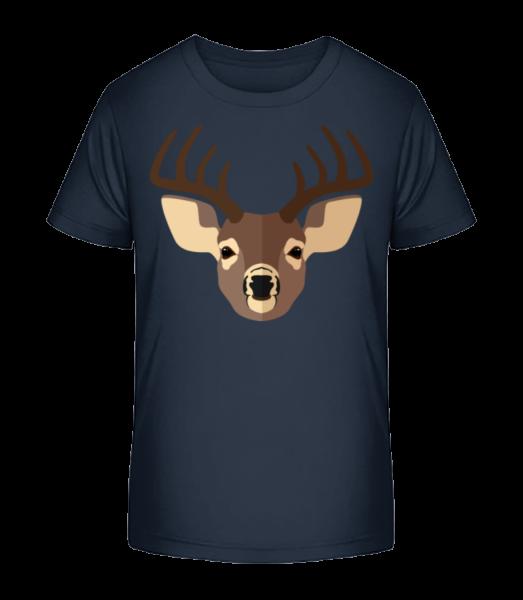 Deer Comic Shadow - Kid's Premium Bio T-Shirt - Navy - Front