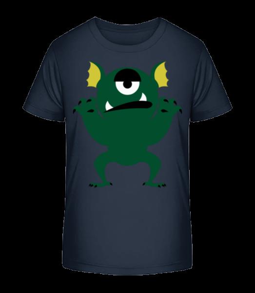 Gelangweiltes Monster - Kinder Premium Bio T-Shirt - Marine - Vorn