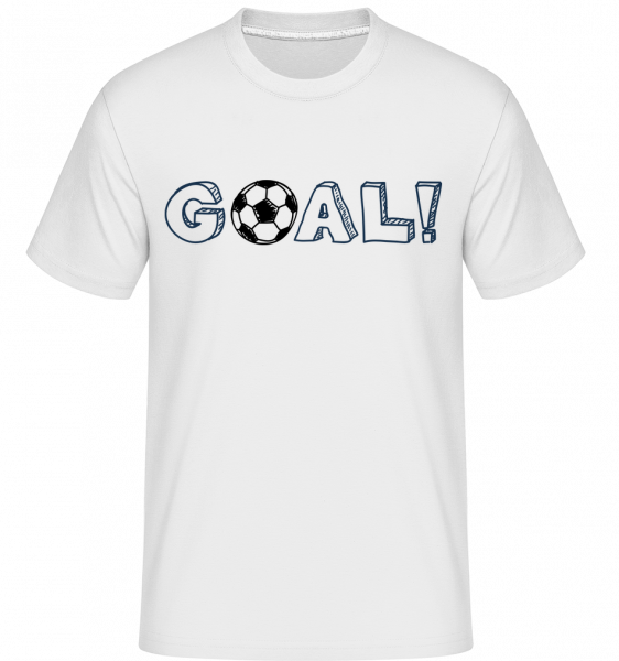 Football Goal Logo - Shirtinator Männer T-Shirt - Weiß - Vorn