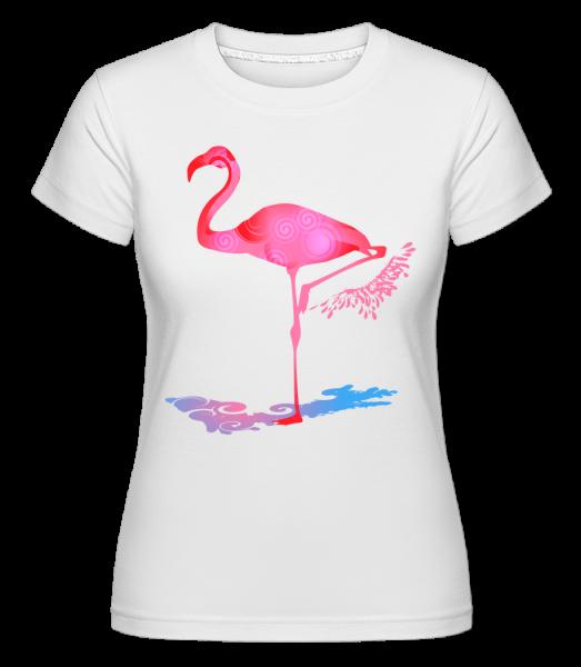 Flamingo - Shirtinator Frauen T-Shirt - Weiß - Vorn