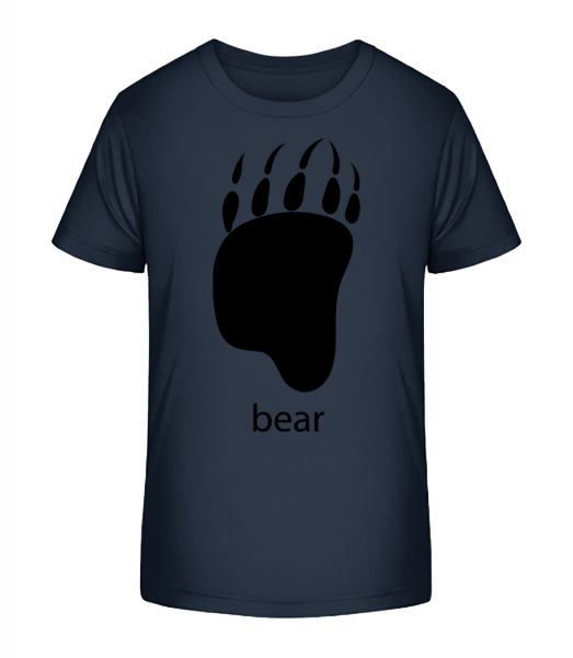 Bear Paw - Kinder Premium Bio T-Shirt - Marine - Vorn